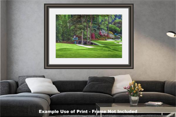 Augusta National Golf Club Masters Amen Corner Holes 11 12 Golden Bell Art golf course oil painting art print 2580 Art Print modern living room example