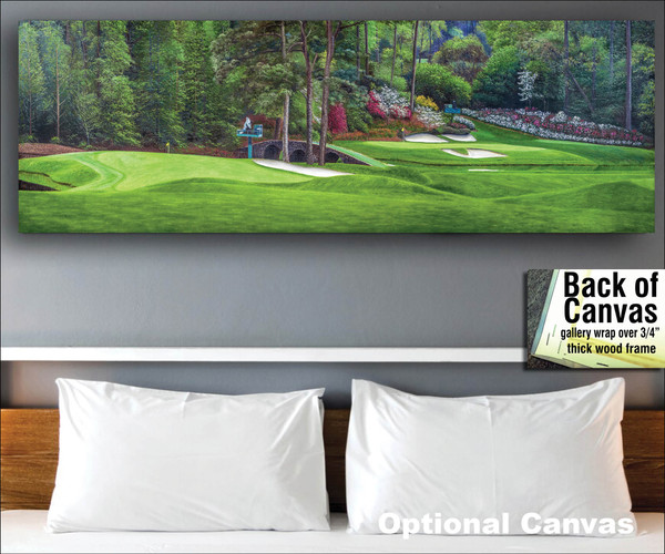 Augusta National Golf Club Masters Amen Corner Holes 11 White Dogwood 12 Golden Bell Art golf course oil painting art print 3000 bedroom scene canvas frame example