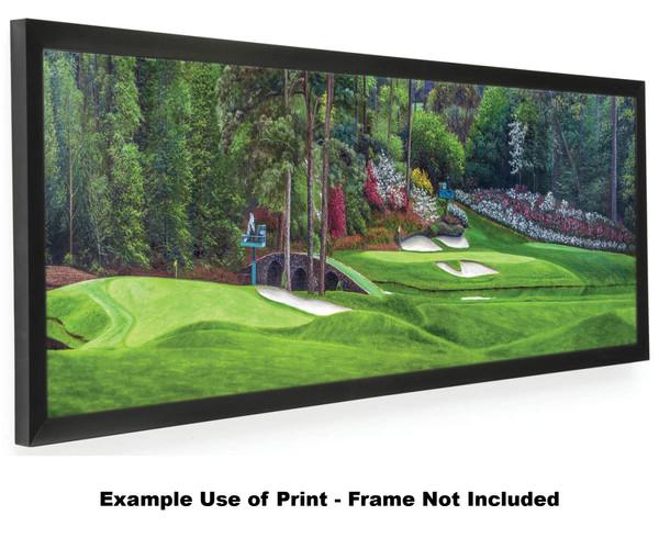 Augusta National Golf Club Masters Amen Corner Holes 11 White Dogwood 12 Golden Bell Art golf course oil painting art print 3000