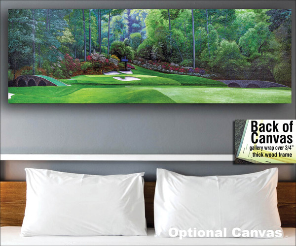 Augusta National Golf Club Masters Amen Corner Hole 12 Golden Bell Art golf course oil painting art print 3000 bedroom scene canvas frame example