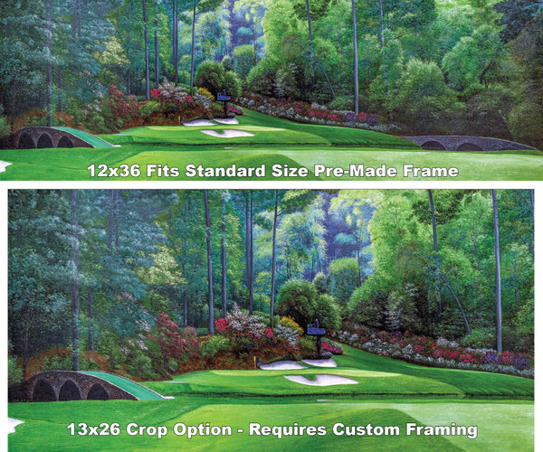 Augusta National Golf Club Masters Amen Corner Hole 12 Golden Bell Art golf course oil painting art print 3000 full plus cropped version