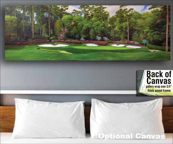 Augusta National Golf Club Masters Amen Corner Hole 13 Magnolia Art golf course oil painting art print 3000 bedroom scene canvas frame example