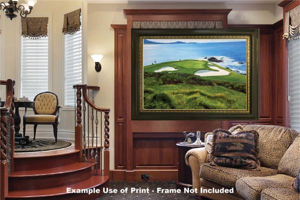Pebble Beach Golf Links Club Hole 7 golf course oil painting art print 2550 Art Print luxury room example