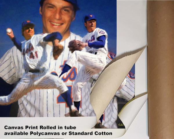Tom Seaver New York Mets Tom Terrific NY Miracle Mets MLB Baseball Stadium Art Print 2510 available as canvas rolled