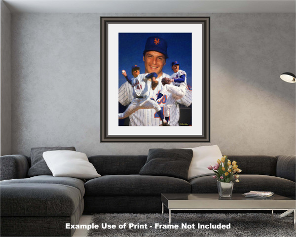 Tom Seaver New York Mets Tom Terrific NY Miracle Mets MLB Baseball Stadium Art Print 2510 modern living room example