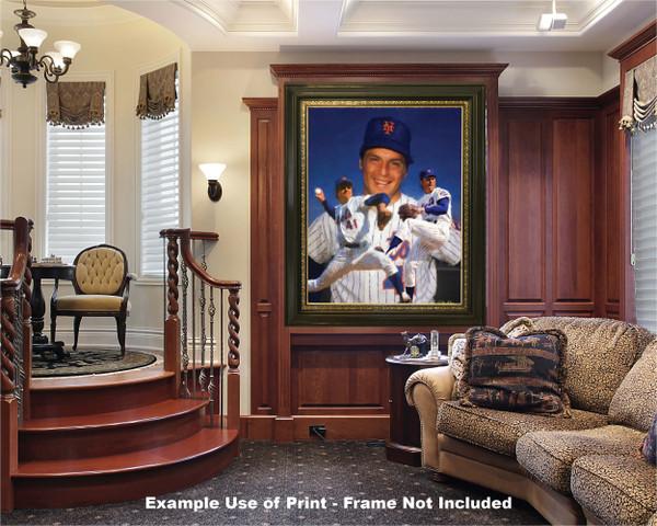 Tom Seaver New York Mets Tom Terrific NY Miracle Mets MLB Baseball Stadium Art Print 2510 luxury room example