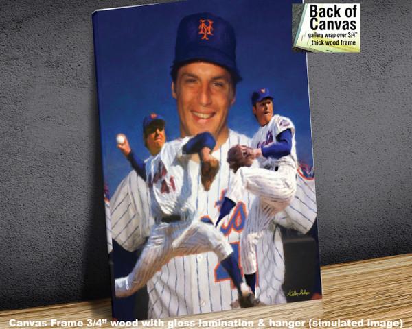 Tom Seaver New York Mets Tom Terrific NY Miracle Mets MLB Baseball Stadium Art Print 2510 available as canvas frame