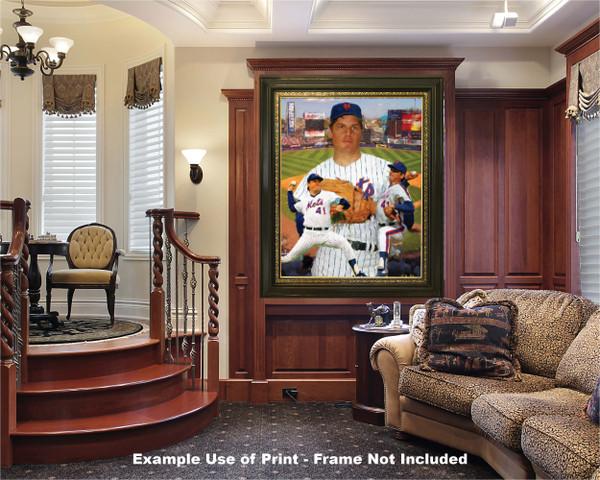 Tom Seaver New York Mets Tom Terrific NY Miracle Mets MLB Baseball Stadium Art Print 2520 luxury room example