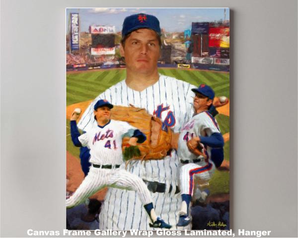 Tom Seaver New York Mets Tom Terrific NY Miracle Mets MLB Baseball Stadium Art Print 2520 canvas frame gallery wrapped