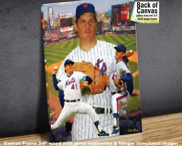 Tom Seaver New York Mets Tom Terrific NY Miracle Mets MLB Baseball Stadium Art Print 2520 available as canvas frame