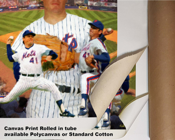 Tom Seaver New York Mets Tom Terrific NY Miracle Mets MLB Baseball Stadium Art Print 2520 available as canvas rolled