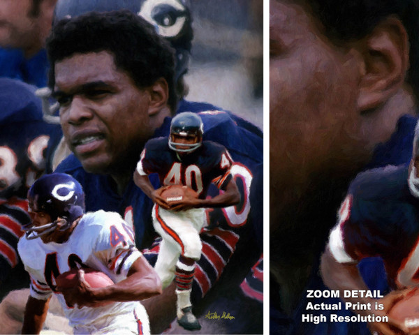 Gale Sayers Chicago Bears Running Back 2510 NFL Football  Art Print 2510 main image with zoom detail
