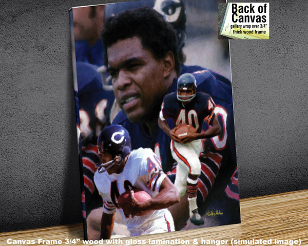 Gale Sayers Chicago Bears Running Back 2510 NFL Football  Art Print 2510 available as canvas frame