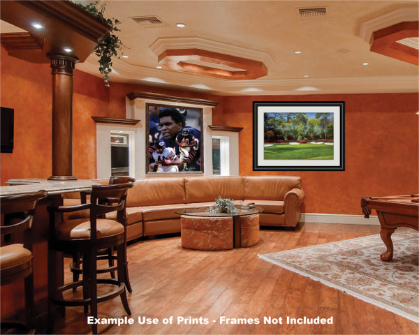 Gale Sayers Chicago Bears Running Back 2510 NFL Football  Art Print 2510 game room bar example