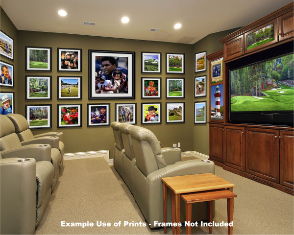 Gale Sayers Chicago Bears Running Back 2510 NFL Football  Art Print 2510 media room example