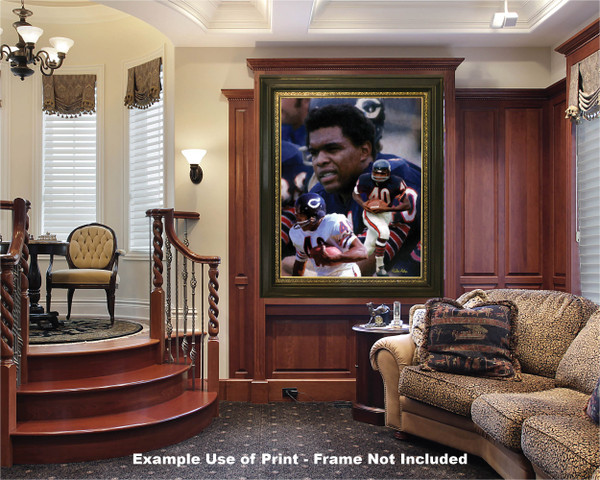 Gale Sayers Chicago Bears Running Back 2510 NFL Football  Art Print 2510 luxury room example