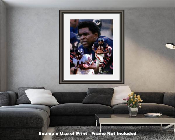 Gale Sayers Chicago Bears Running Back 2510 NFL Football  Art Print 2510 modern living room example