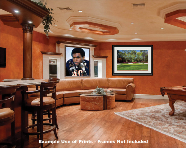 Gale Sayers Chicago Bears Running Back 2520 NFL Football  Art Print 2520 game room bar example
