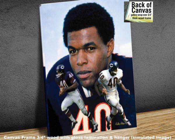Gale Sayers Chicago Bears Running Back 2520 NFL Football  Art Print 2520 available as canvas frame