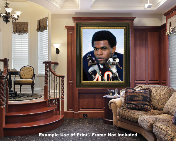 Gale Sayers Chicago Bears Running Back 2520 NFL Football  Art Print 2520 luxury room example