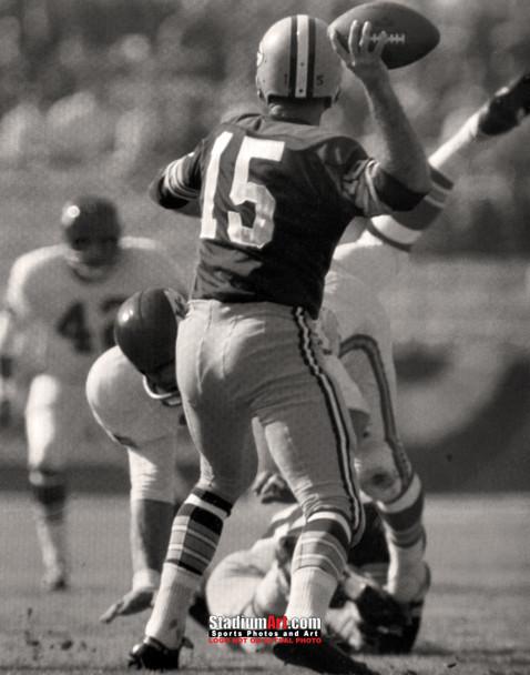 Green Bay Packers Bart Starr Football 8x10-48x36 Photo Print 58