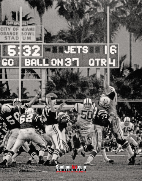 Indianapolis Colts z Baltimore Johnny Unitas Football 8x10-48x36 Photo Print 70