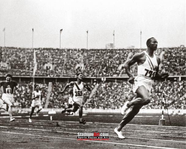 Jesse Owens Track Running Olympics 8x10 or 11x14 or 40x30 photo StadiumArt.com Sports Photos