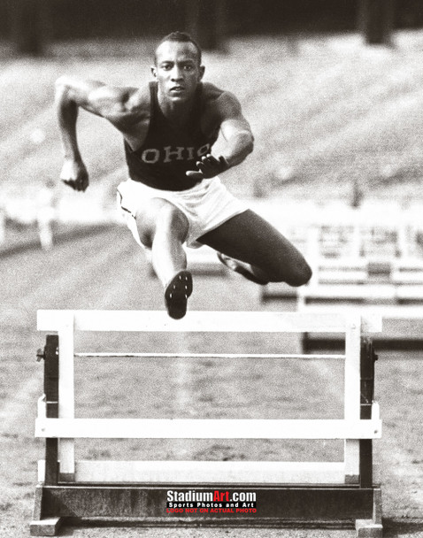 Jesse Owens Track Hurdle Ohio State 8x10 or 11x14 or 40x30 photo StadiumArt.com Sports Photos
