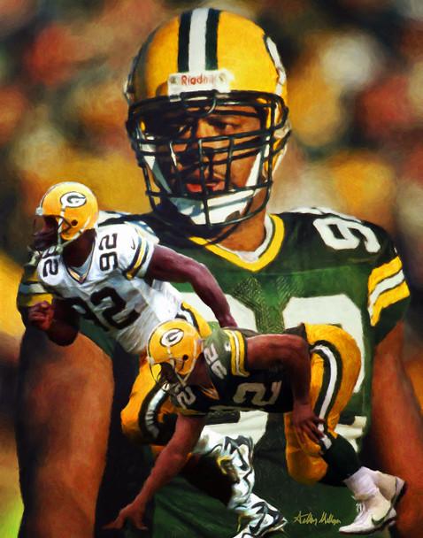 Green Bay Packers Reggie White NFL Football Art Print 8x10 or 11x14 or 16x20 or 40x30 StadiumArt.com Sports Photos