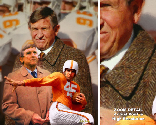 Johnny Majors Coach Tennessee Vols NCAA College Football 2520 Art Print 8x10-48x36 main image with zoom detail