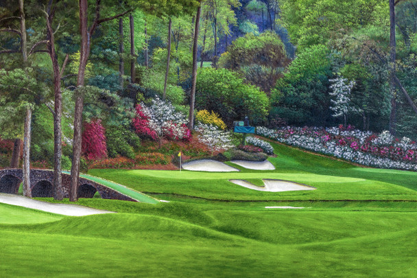 Augusta National Golf Club, Masters Tournament Hole 12 Golden Bell golf course oil painting 2560  Art Print main image