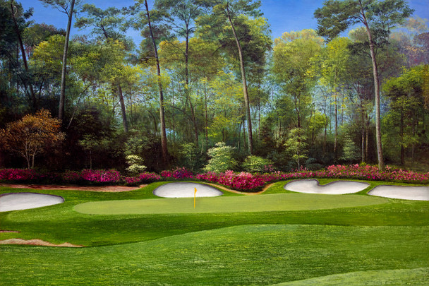 Augusta National Golf Club Masters Tournament Hole 13 Magnolia golf course oil painting art print 2550 Art Print main image