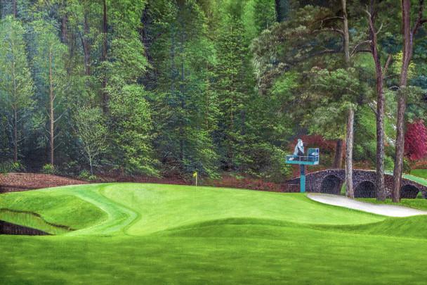 Augusta National Golf Club Masters Tournament Hole 11 White Dogwood golf course oil painting art print 2550 Art Print main image