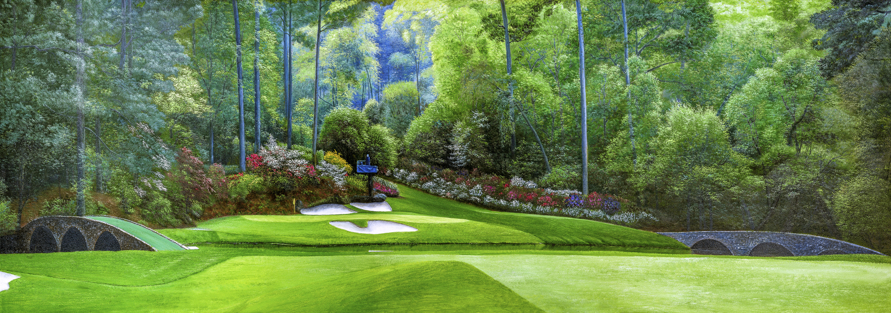 Augusta National Amen Corner Golden Bell Hole 12 Art Home of the Masters