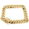 10K Yellow Gold 10.75mm Super Solid Miami Cuban Link Bracelet Box Clasp 8-9 Inch