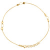 "14K Yellow Gold Fancy Cable Link Love & Heart Stack Charm Anklet 9.50""+1"" Ext."