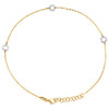 "14K Yellow Gold Fancy Cable Link Sunflower Cut Out Charm Anklet 9.50""+1"" Ext."