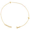 "14K Yellow Gold Fancy Cable Link 3D Puff Love & Heart Charm Anklet 9.50""+1"" Ext."
