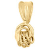 14K Yellow Gold Fancy Italian Love Knot Hammered Diamond Cut Pendant Charm 0.60""