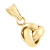 "14K Yellow Gold Fancy Italian Love Knot Textured Pendant Women's Charm 0.75"""