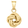 """14K Yellow Gold Fancy Italian Love Knot Hammered Textured Pendant Charm 0.85"""""""