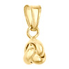 14K Yellow Gold Fancy Italian Love Knot Textured Pendant Women's Charm 0.65""