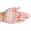 "14K Yellow Gold Fancy Italian Love Knot Textured Pendant Women's Charm 0.80"""