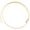 14K Yellow Gold 1.50mm Italian Braided Twisted Chain Textured Weave Necklace 18""