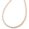 14K Tri Color Gold 4.25mm Italian Braided / Twisted Chain Texture Necklace 18""