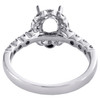 18K White Gold 7/8 CT Diamond Semi Mount Engagement Ring For 1 CT Oval Solitaire