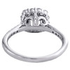 14K White Gold 1/2 CT Diamond Semi Mount Engagement Ring For 3/4 CT Round Center