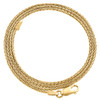 10K Yellow Gold 1.25mm Round Spiga Link Chain Fancy Italian Necklace 16-24 Inch