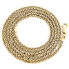 10K Yellow Gold 2.50mm Round Spiga Link Chain Fancy Italian Necklace 22-30 Inch