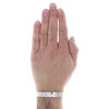 18K White Two Tone Gold Size 21cm Louis Vuitton Bangle Cuff LV Monogram Bracelet 10.50mm